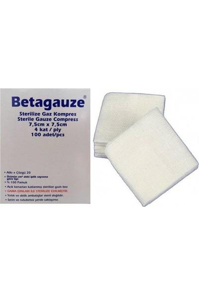 Betagauze Steril Gazlı Bez Kompres Spanç 7,5 x 7,5 cm 100'lü x 4 Kutu