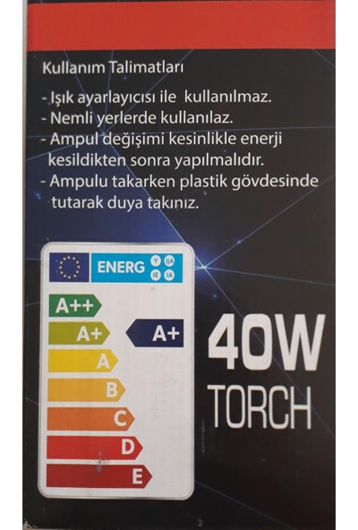Nıkula Star 40 W Torch Ampül