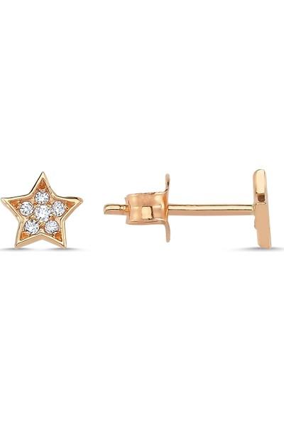 Aypa Mücevher Pırlantalı Yıldız Küpe