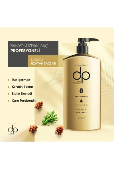 Dp Çam Terebenti Şampuan 800 ml 2'li Set