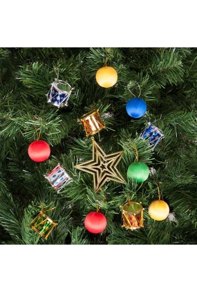 KbkMarket Yılbaşı Çam Ağacı Rengarenk Toplu Süs Seti 13'lü