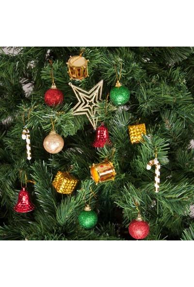 KbkMarket Yılbaşı Çam Ağacı Süsü Yıldızlı Set 27'li
