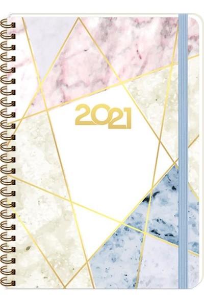 Keskin Color Marble Moon 2021 Haftalık Ajanda