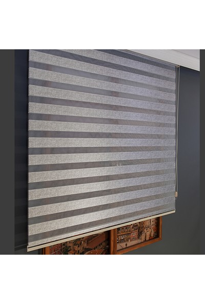 Anıper Zebra Perde Gri Kalın Hasır Bamboo 70 x 200 cm