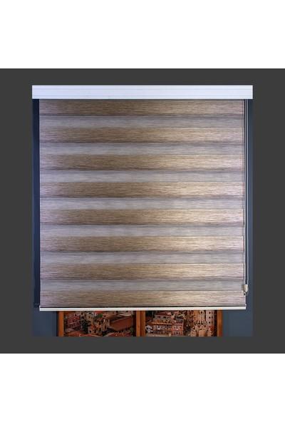 Anıper Zebra Perde Kahverengi Kalın Bamboo Plise 70 x 200 cm