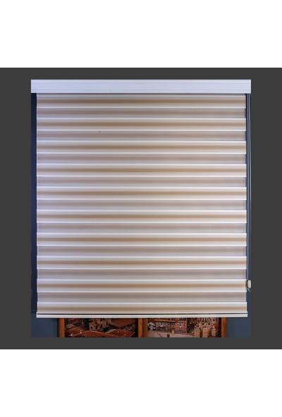 Anıper Zebra Perde Krem Kahverengi Micro Plise 70 x 200 cm