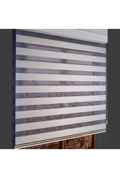 Anıper Zebra Perde Bej Rengi Simli Kırçıl Desenli 70 x 200 cm