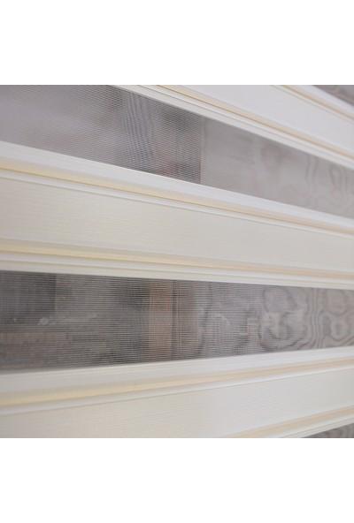 Anıper Zebra Perde Kahve Krem Kalın Bamboo Plise 70 x 200 cm