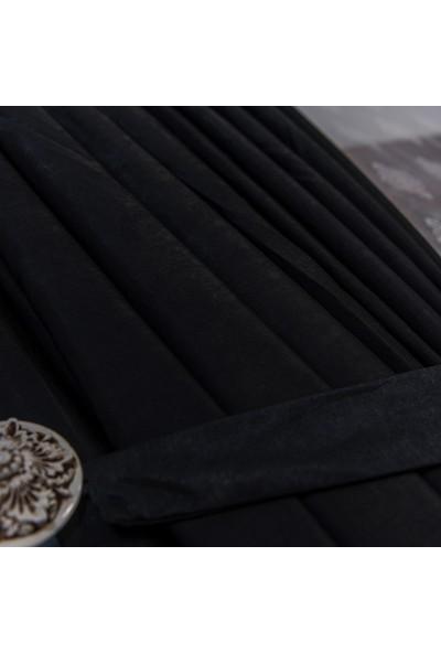 Anıper Siyah Kullanıma Hazır Fon Perde 1 Takım 2 Adet 1'e 2 Pile Sıklığı 60 x 270 cm