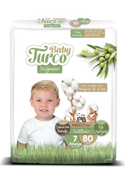 Baby Turco Doğadan 7 Numara Xxlarge 80'li