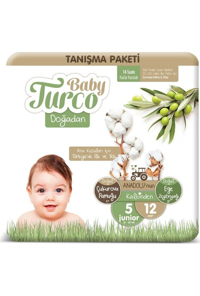 Baby Turco Doğadan 5 Numara Junıor Tanışma Paketi 12'li