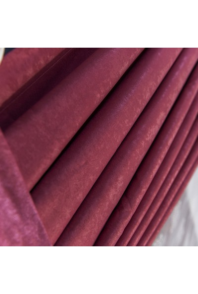 Anıper Gül Kurusu Kullanıma Hazır Fon Perde 1 Takım 2 Adet 1'e 3 Pile Sıklığı 160 x 190 cm