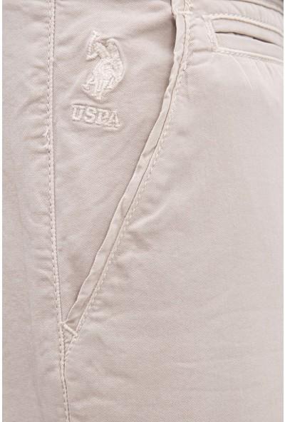 U.S. Polo Assn. Erkek Beyaz Dokuma Bermuda Capri 50218297-VR085