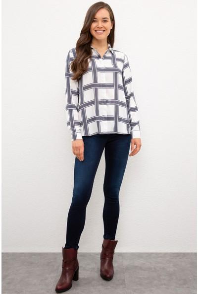 U.S. Polo Assn. Kadın Beyaz Gömlek Uzunkol 50226443-VR019