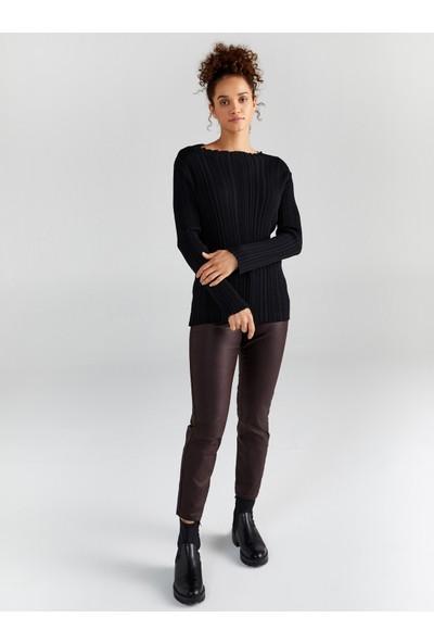 Faik Sönmez Kadın Fitil Örgü Triko Bluz 61755
