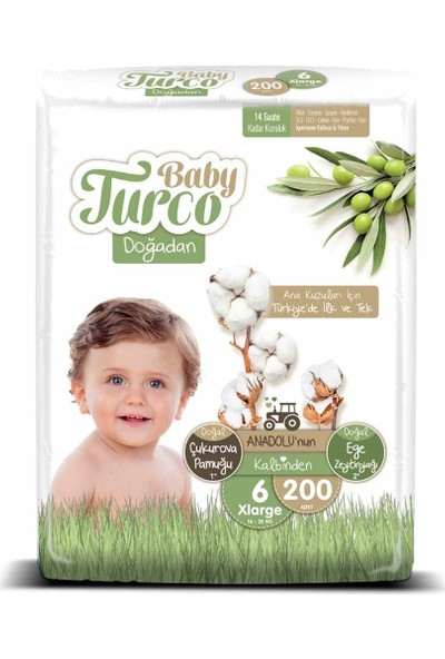Baby Turco Doğadan 6 Numara Xlarge 200'lü