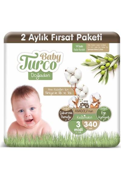 Baby Turco Doğadan 3 Numara Midi 340'lı