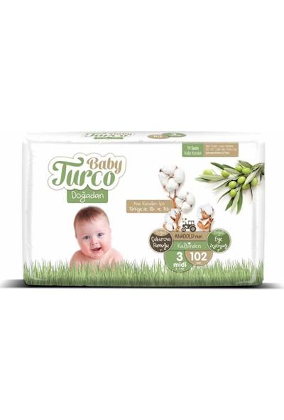 Baby Turco Doğadan 3 Numara Midi 102'li