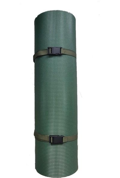 Lıghtınghm Askeri Kamp Yoga Pilates Matı Kamp Çadırına Uygun 55X195/10MM Haki Yeşili Mat
