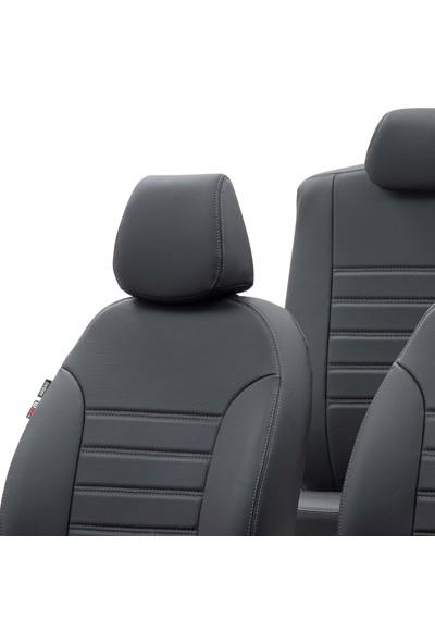 Otom Fiat Linea 2007-2017 Özel Üretim Koltuk Kılıfı New York Design Siyah