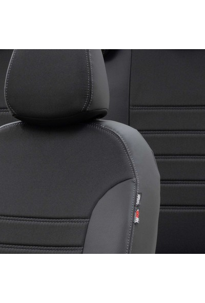 Otom Fiat Linea 2007-2017 Özel Üretim Koltuk Kılıfı Paris Design Füme - Siyah