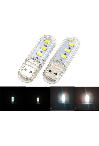 Serel Acil Durum Deprem Feneri 3 LED USB Lamba