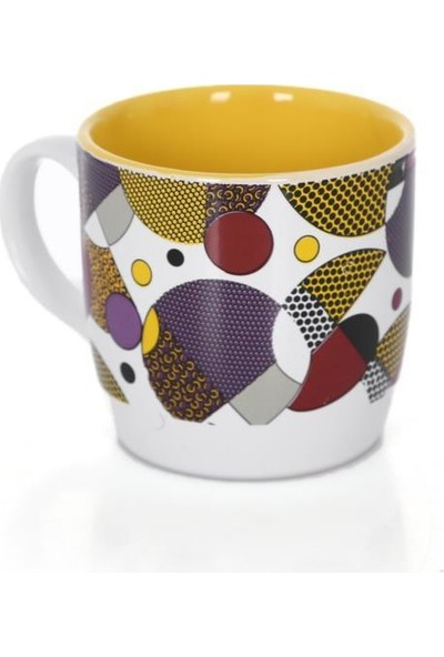 Mgm Palermo Sarı Mozaik Desenli Oval Seramik Kupa