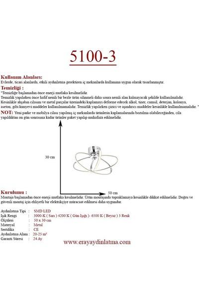 Eray Aydınlatma 5100-3 Krom LED Avize