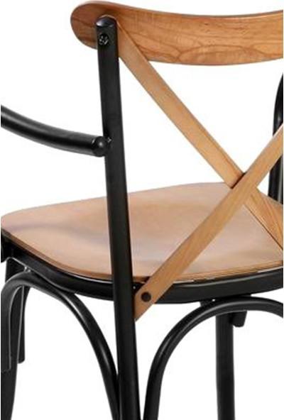 Sandalye Online Metal Tonet Kolçaklı Sandalye