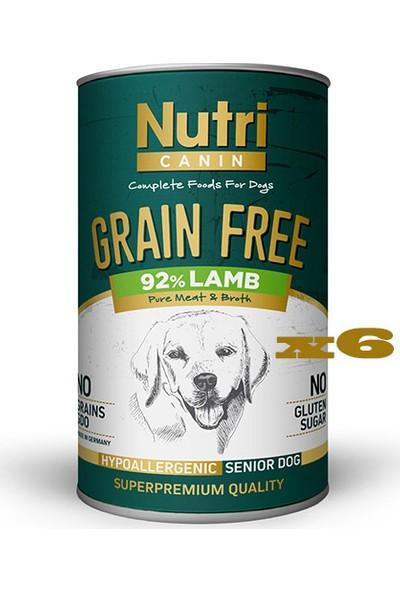 Nutri Canin Tahılsız Kuzu Etli & Tatlı Patatesli Yaşlı Köpek Konservesi 400 gr x 6 Adet