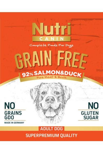 Nutri Canin Tahılsız Somon Ördek Eti &Tatlı Patatesli Köpek Konservesi 400 gr