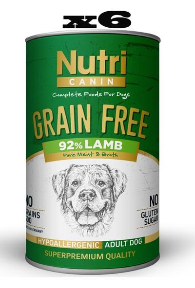 Nutri Canin Tahılsız Kuzu Etli & Tatlı Patatesli Köpek Konservesi 400 gr x 6 Adet