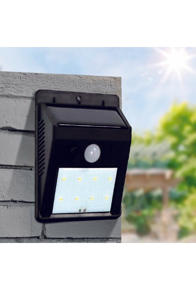 Bahçem Solar 8 LED Bahçe Duvar Aydınlatması