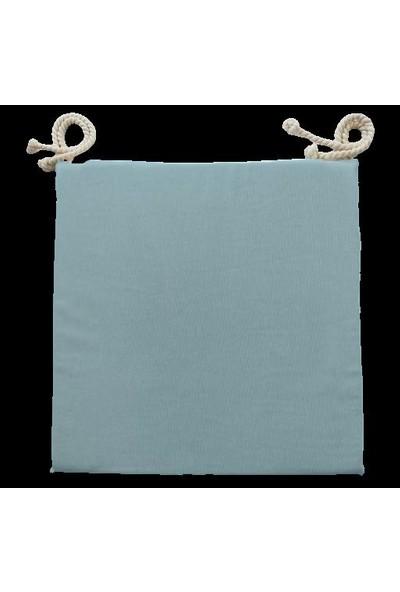 Textilla Bebe Mavi 40X40 cm Kare Sandalye Minderi