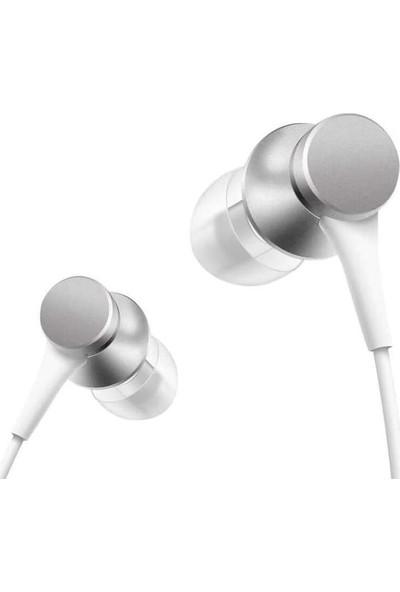 Xiaomi Piston Basic Edition Mikrofonlu Kulakiçi Kulaklık, Beyaz/gümüş