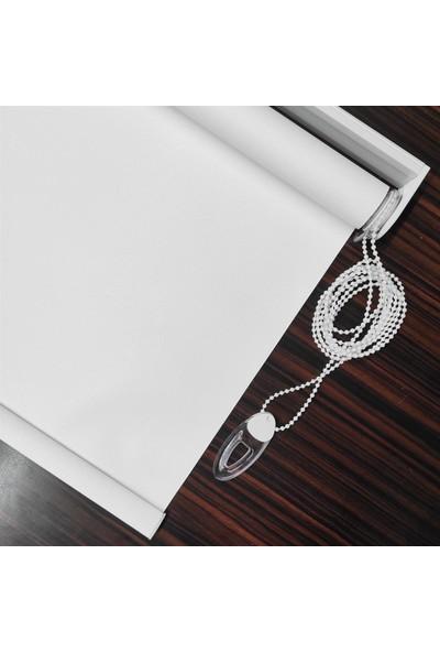 Perva Çizilmez Karartma Blackout Beyaz Stor Perde