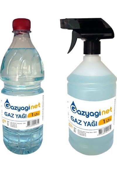 Gazyağınet Gaz Yağı Gaz Lambası Yağı Gaz Sobası Boya Koruma Zift Reçine Zincir Temizle 1 lt Pet ve 1 lt Sprey Şişe