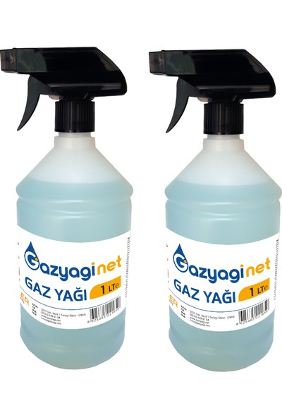 Gazyağınet Gaz Yağı Gaz Lambası Yağı Gaz Sobası Boya Koruma Zift Reçine Zincir Temizleyici 2 lt Sprey Şişe