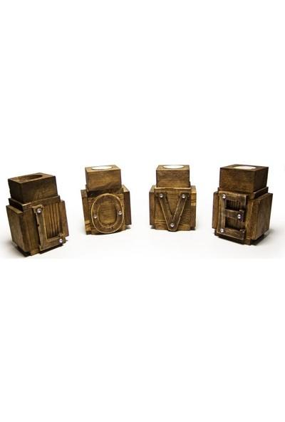 Halk Kitabevi Love 4'lü Mumluk Seti