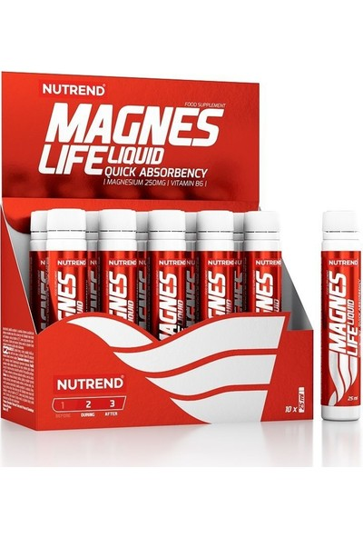 Nutrend Magneslife 10X25ML Magnezyum B6 Vitamini Içeriği