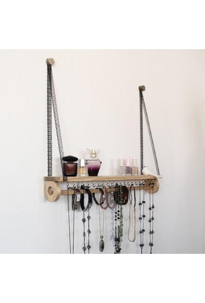 Nilly Women's Furniture Betty - Black Bloom Lace - Dantel Askılı Takı Rafı Askılığı