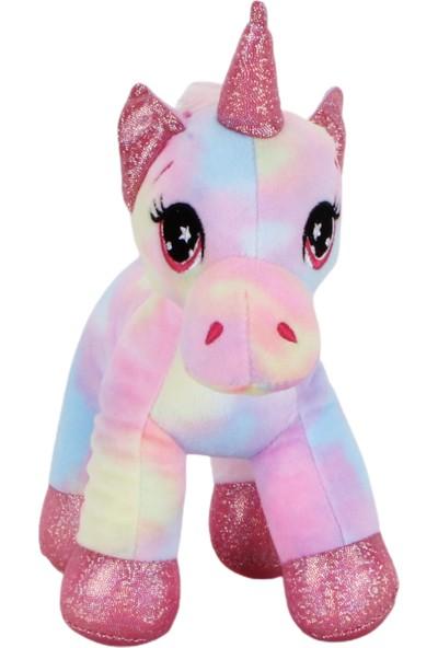 Sevgiliye Renkli Pembe Unicorn Peluş 20 cm Unicorn Oyuncak