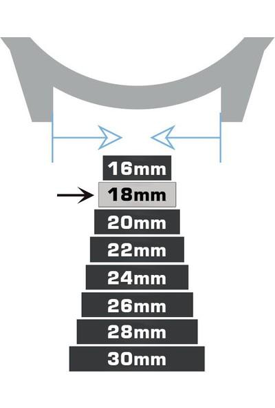 Chrono Kroko Deri Saat Kordonu Kayış Koyu Kahverengi 18 mm
