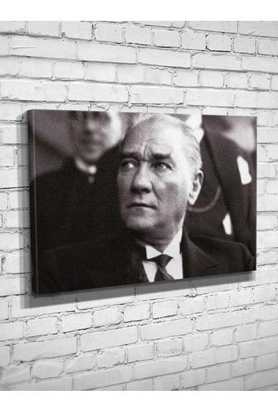 Ekon Gema Atatürk Bakış Baskılı Kanvas Tablo