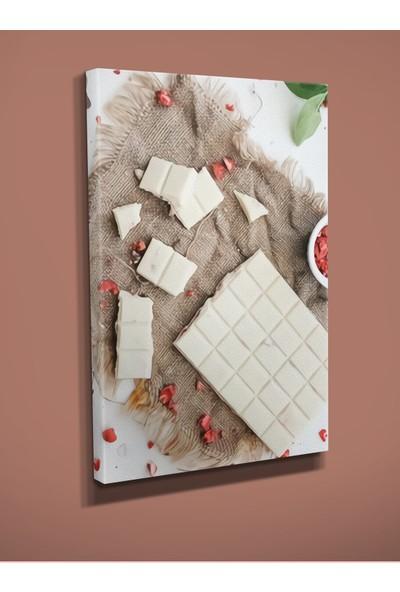 Ekon Gema Beyaz Çikolata Baskılı Kanvas Tablo