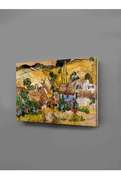Ekon Gema Farms Near Auvers Van Gogh Kanvas Tablo