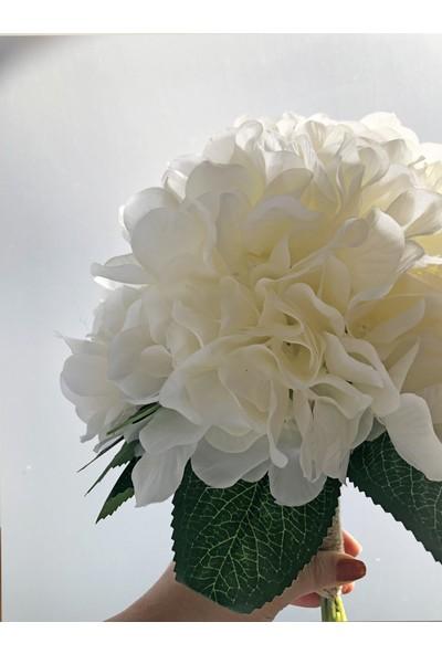Ddevents Gelin Çiçeği Buketi - Beyaz Ortanca
