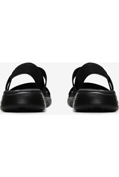 Skechers On-The-Go 600 - Flawless Kadın Siyah Sandalet 15312 Bbk