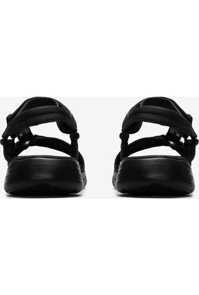 Skechers On-The-Go 600 - Brilliancy Kadın Siyah Sandalet 15316 Bbk