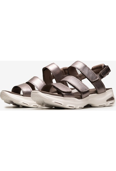 Skechers D'Lites Ultra - Fab Life Kadın Gri Sandalet 32382 Pew